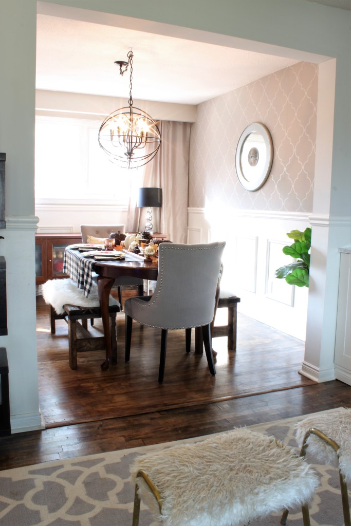 Fall Home Tour Dining Room using neutrals