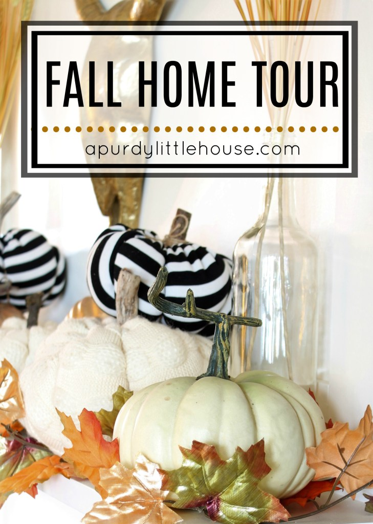 Fall Home Tour featuring neutrals and pops of orange at apurdylittlehouse.com