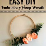 Easy DIY Embroidery Hoop Wreath