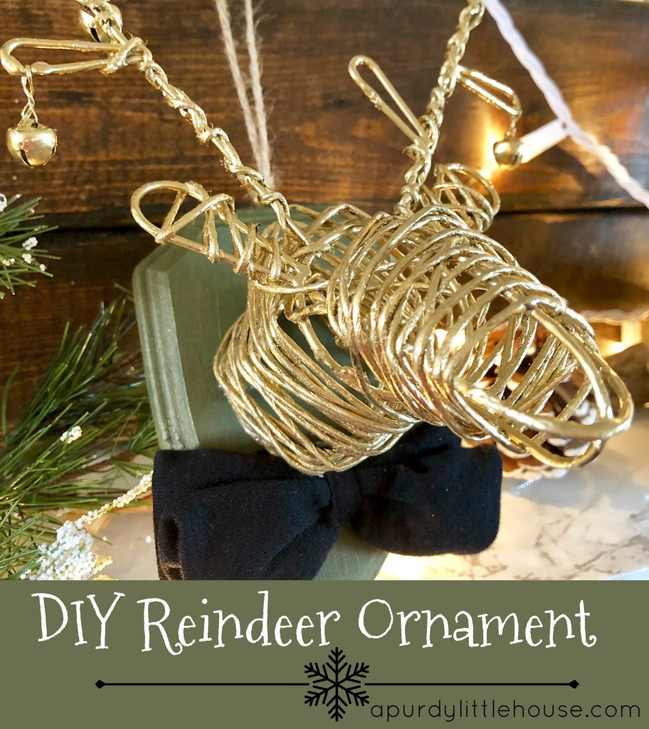 DIY Reindeer Ornament