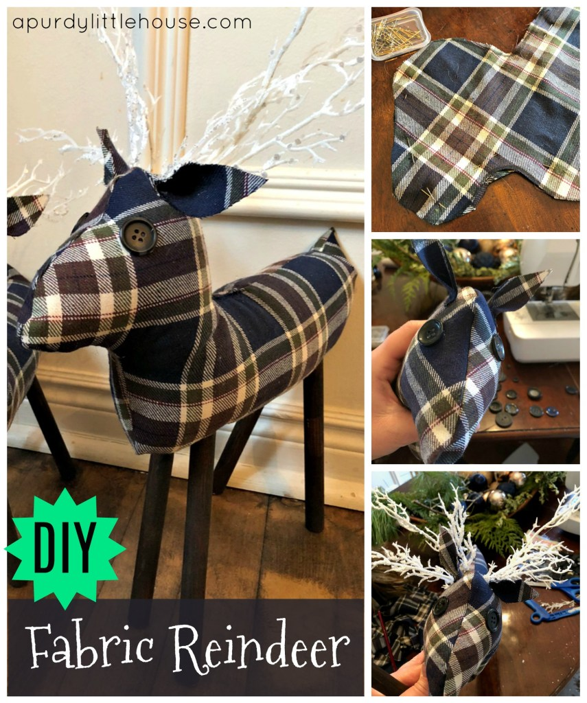 How to Make a DIY Fabric Reindeer