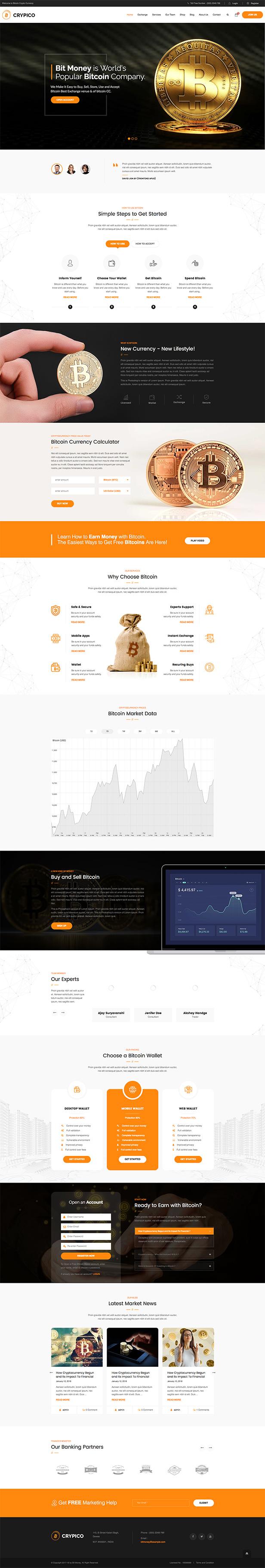 Crypico - Crypto Currency WordPress Theme 1