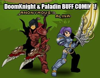 DoomKnight and Paladin Buff