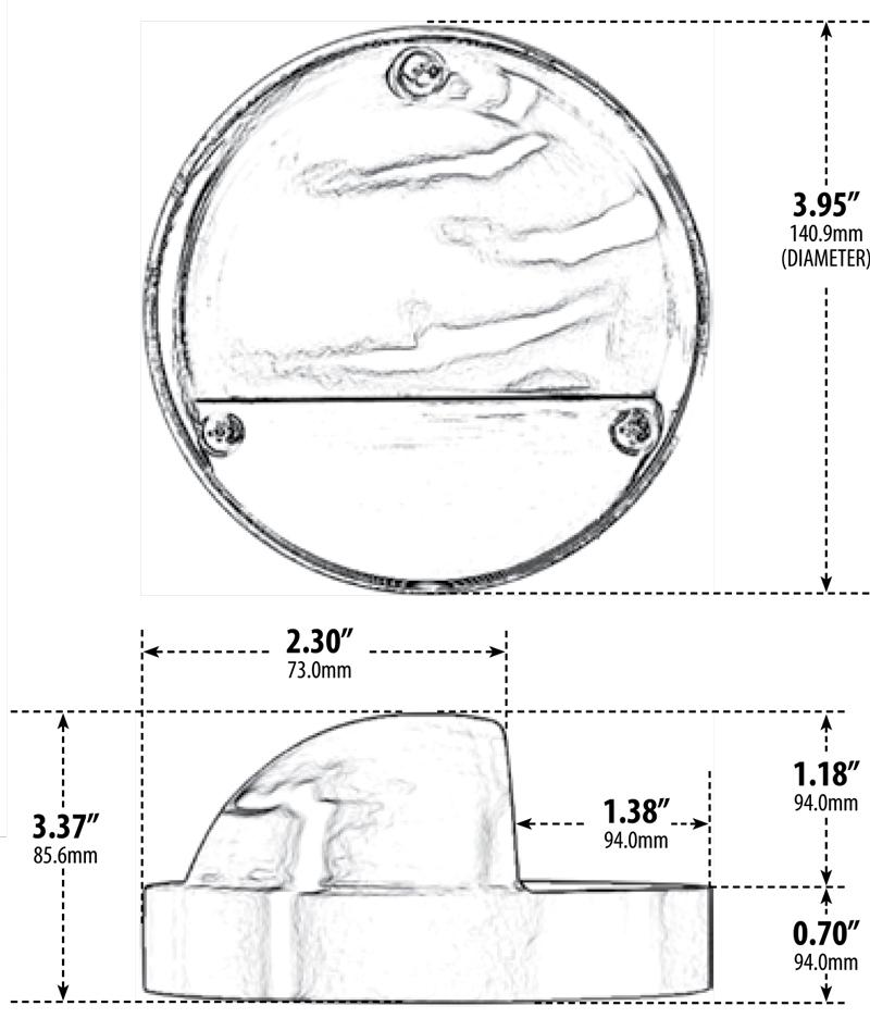 12V 316 Stainless Steel Eyebrow Step Light (LV605-SS316