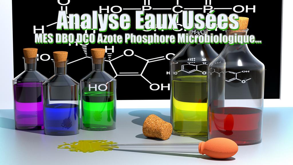 Analyse Eaux Uses MES DBO DCO Azote Phosphore