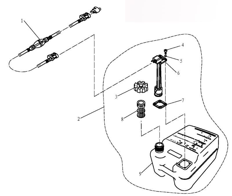 Топливный бак. Parsun (Golfstream, HDX) F9.9 BM