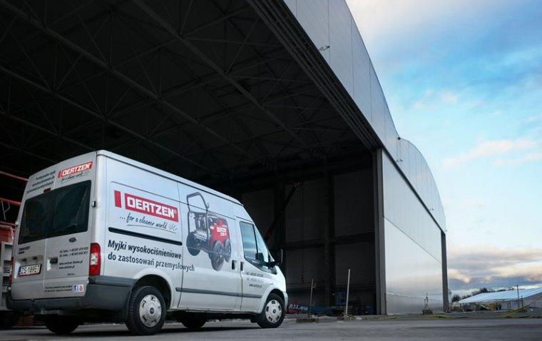 Wysokociśnieniowe instalacje stacjonarne w halach obsługi