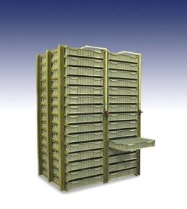 15-trays high lobster tray shelving