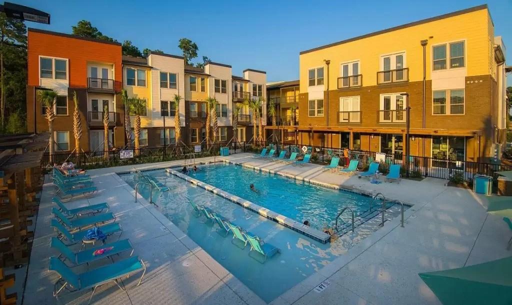 Multifamily Swimming Pool Located in North Charleston Park Circle District  Aqua Blue Pools