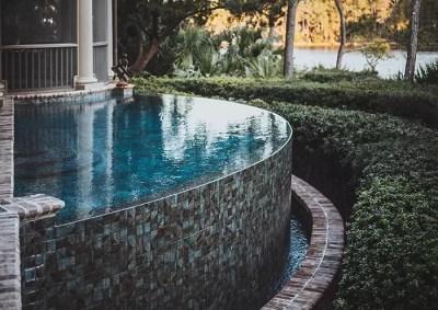 Kiawah Island pool with infinity edge   Aqua Blue Pools
