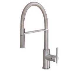 Faucets Kitchen Designer Wall Tiles Aquabrass Pull Out Dual Stream Mode Faucet