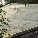 Timber deck project in Bath back garden
