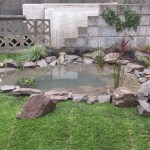 Garden pond built in Bristol