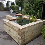 Bath area - raised timber pond construction