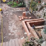 Garden water feature and landscaping in Bristol