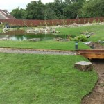 The water garden ends with the soak away
