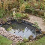 Pond re-line Bristol: Ready to go, re-lining complete