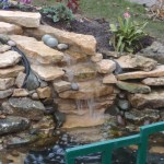 Pond re-line Bristol: water fall improvement in Bristol