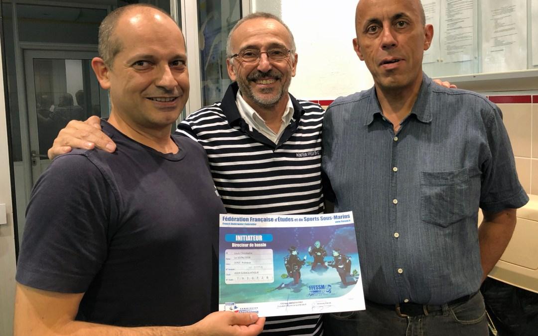 Deux nouveaux initiateurs pour la section Plongée sous-marine