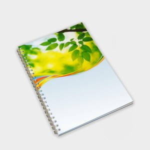 A5 Wirebound Full colour Notebook – Recycled