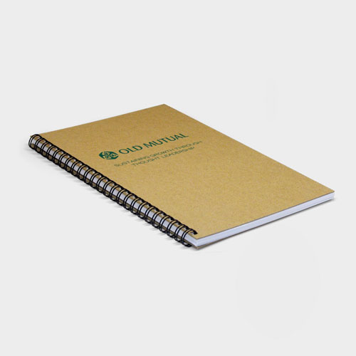 A4 Wirebound Natural Board Notebook – Recycled