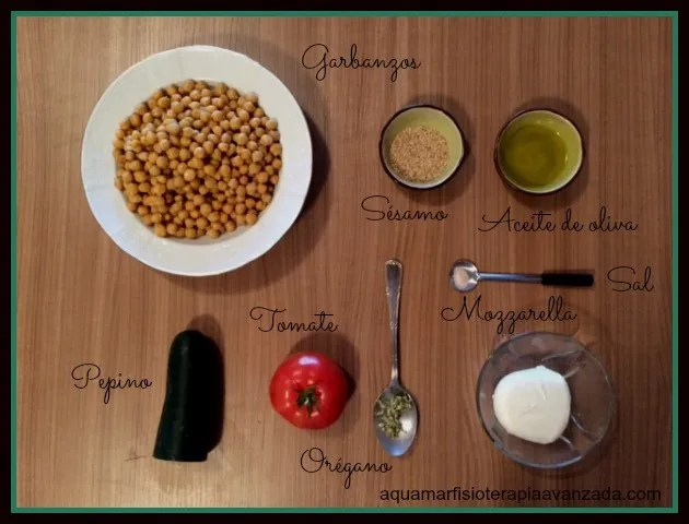 ingredientes receta sencilla garbanzos