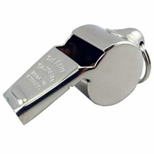 Acme Nickel Brass Whistle   Whistles and Lanyards   Aquamentor