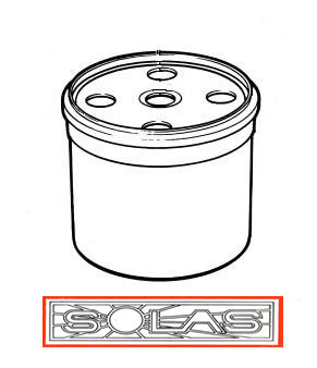 Volvo Penta type Fuel Filter fits AQAD series, KAD42, etc