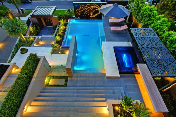 sophisticated pool design