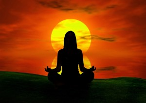 meditation-sunset-33345