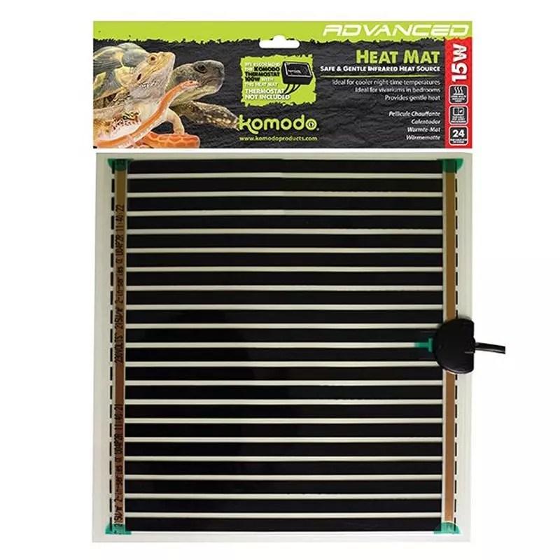 komodo heat mat 15 w tapis chauffant pour reptiles