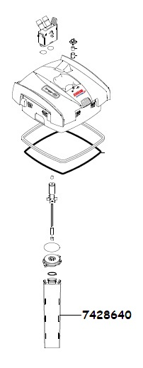 Eheim 7428640 Separation Screen With Sealing Ring For
