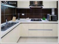 Sparkle White Quartz Kitchen Countertops