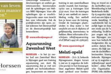Aquarunning in De Brug Nijmegen