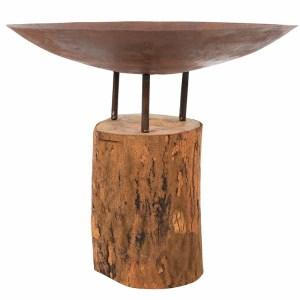 Vuurschaal Firepit Logger medium Wooden base