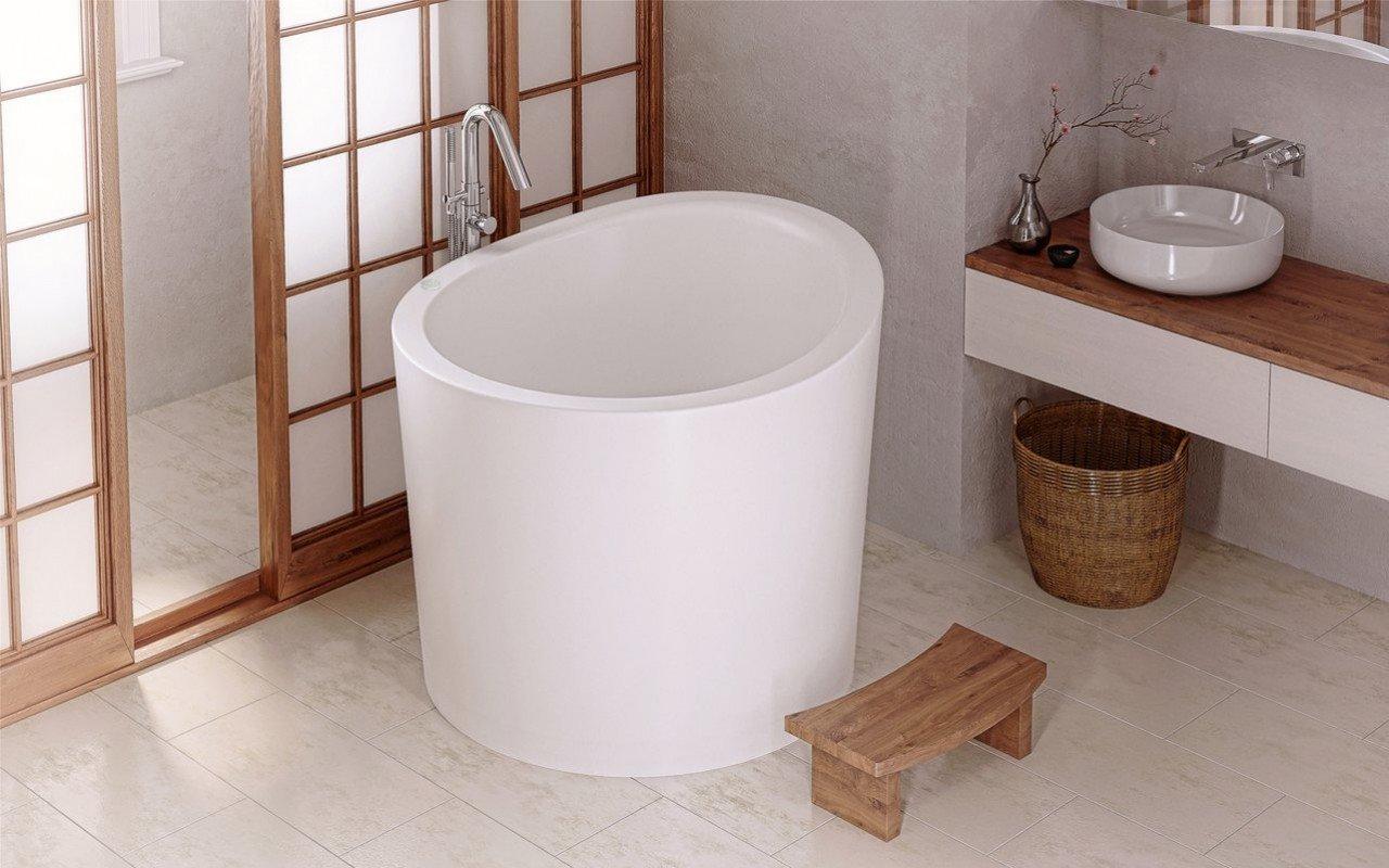 Aquatica True Ofuro Mini Tranquility Heated Japanese Bathtub 220 240v 50 60hz Usa International