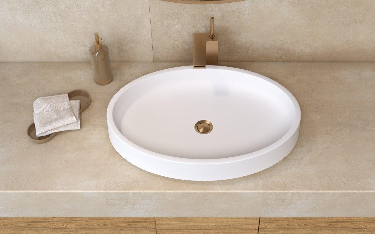 aquatica solace wht oval stone bathroom vessel sink