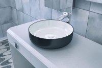Aquatica Metamorfosi-Black-Wht Round Ceramic Bathroom ...