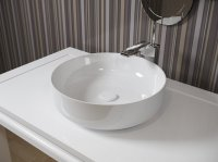 Aquatica Metamorfosi-Wht Round Ceramic Bathroom Vessel Sink