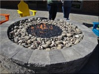 Fire pit filler. Crushed lava rock for fire glass fire ...