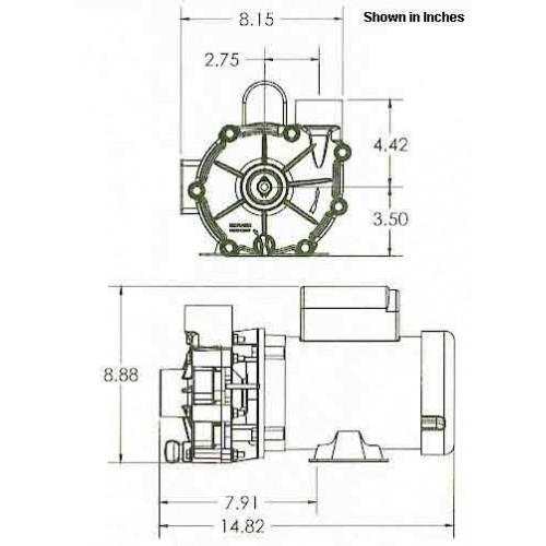 Valuflo 1000 Series 45001/6 HP External Pump