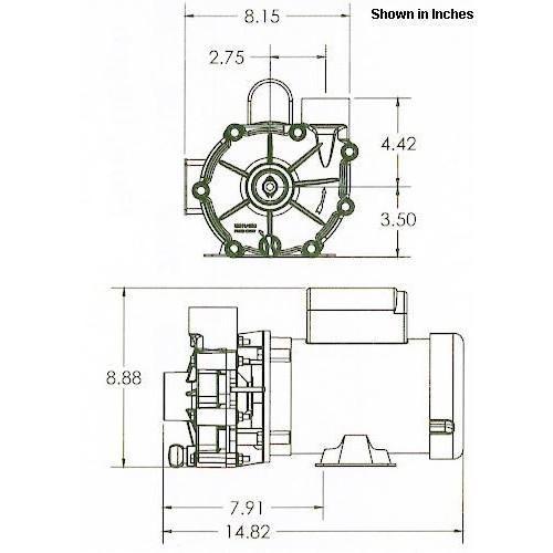 ValuFlo 1000 Series 3300 1/8 HP High-Volume Waterfall Pumps