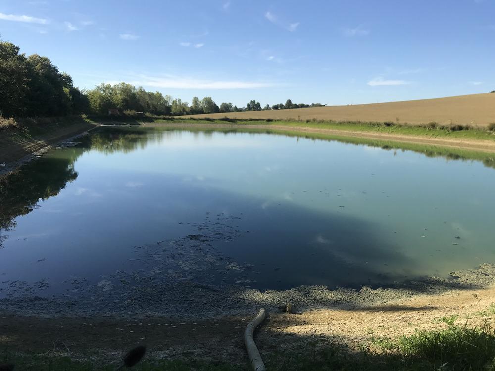 Retenue d'eau agricole dans le Gers