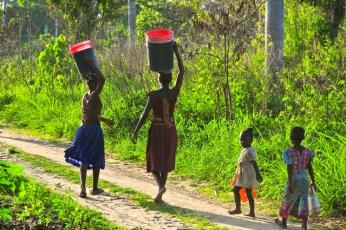 Femme porteuse d'eau dans le monde