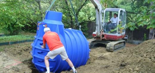 installation d'une cuve de récupération d'eau de pluie