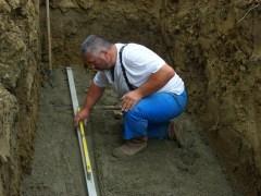 plateforme pour la cuve à enterrer