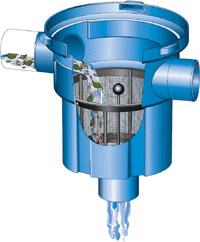 Filtre à panier pour récupérateur d'eau de pluie enterré