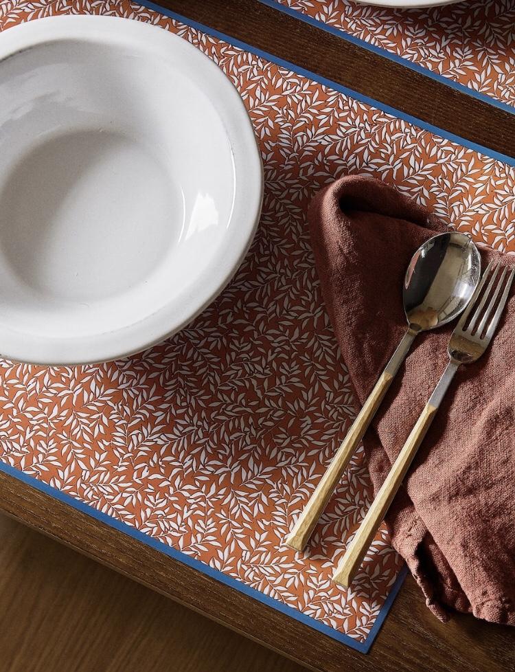 Individual Plástico Miniprint Hojas de Zara Home