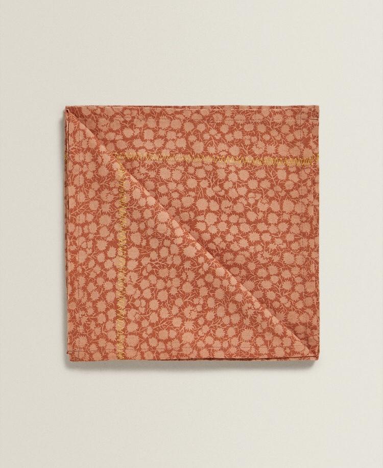 Servilleta Algodón Miniprint Floral (Pack de 2) de Zara Home