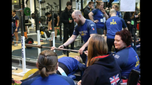 Ben Richens at Invictus Games Powerlifting competition